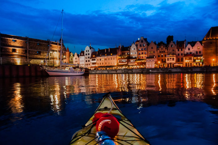 Evening Gdansk by kayak
