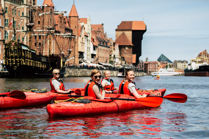 Islands of Gdansk by kayak
