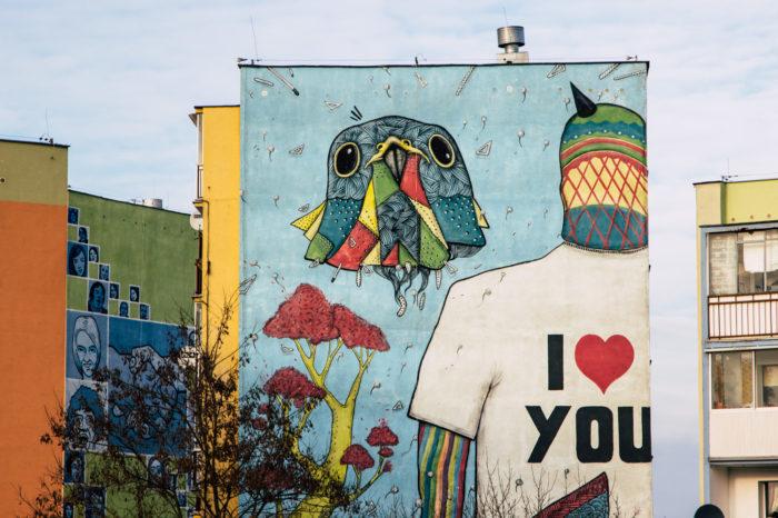 Gdansk street art by bike